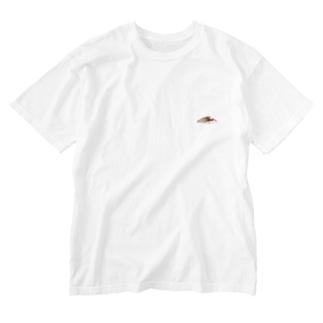 寿司 鯵 Washed T-shirts
