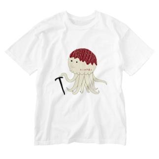 たこやき星人 Washed T-shirts