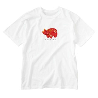 やさしい赤べこ Washed T-shirts