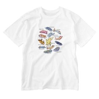 カエルアンコウと12匹のウミウシ Washed T-shirts