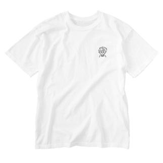 おんまゆくん Washed T-shirts