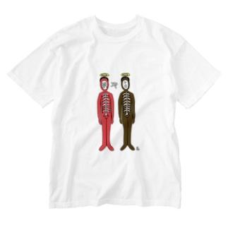 鯛や平目 Washed T-shirts
