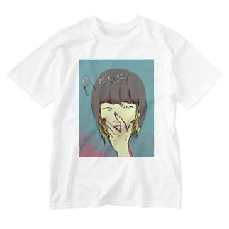 欠伸人間 Washed T-shirts