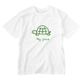 亀ちゃん Washed T-shirts