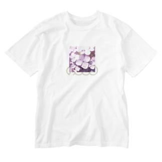 あじさい紫② Washed T-shirts