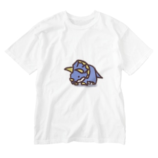 クレヨン トリケラトプスくん Washed T-shirts