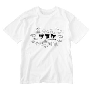 S.J.Kの釣りが上手になるかもしれないオマモリ - TsuNuKe - カタカナバージョン Washed T-shirts