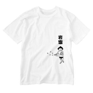 大相撲 岩塩をまく Washed T-shirts
