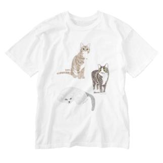 モコ・ハナ・ソラ Washed T-shirts