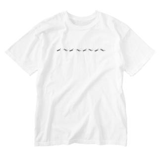 夜を駈ける猫 Washed T-shirts