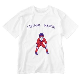 球春到来!野球Tシャツ「守備職人」 Washed T-shirts