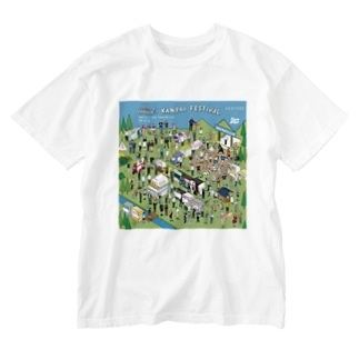 iso Brewing Designのイラスト乾杯フェス_batch 1 Washed T-shirts