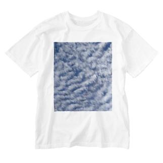 いわし雲photo Washed T-shirts