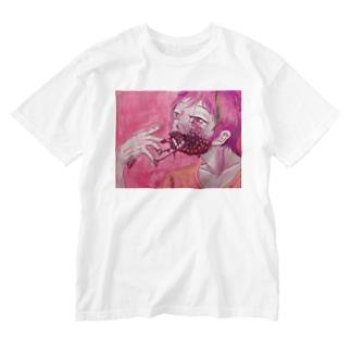 ストロベリージャムシンドローム Washed T-shirts