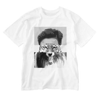 不毛なモンタージュ Washed T-shirts