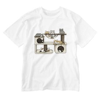 キャットタワー Washed T-shirts