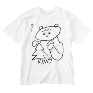 うつくしいせかい Washed T-shirts