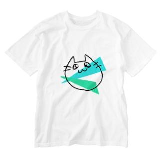らくがきねこ Washed T-shirts