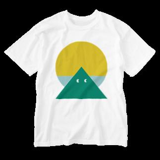 DESIGN YAMA HOURのYAMA SUN Washed T-shirts