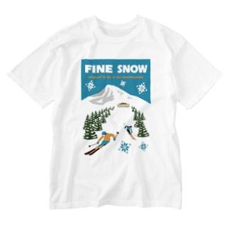 ファインスノー Washed T-shirts