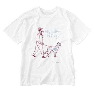 犬とおじさん_2 Washed T-shirts