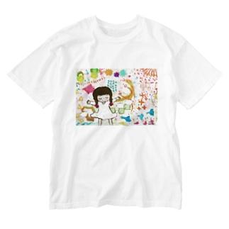 世界の空気 Washed T-shirts