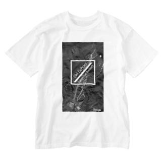Takatsue_ski_schoolのたかつえSS 航空写真シリーズ Washed T-shirts