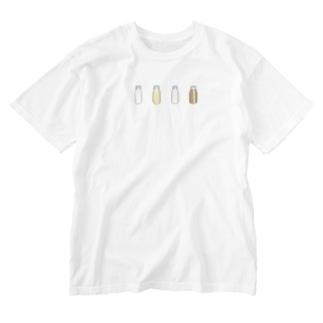 cosmicatiromの牛乳達 Washed T-shirts