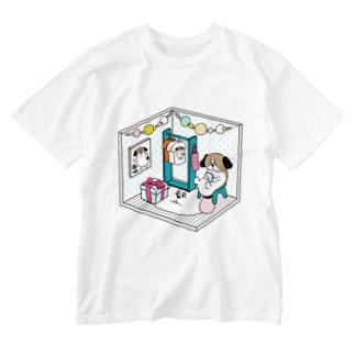 もじゃまるくつろぎ Washed T-shirts