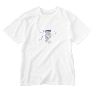 純情な奥手女子は戸惑っている Washed T-shirts