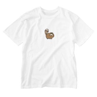 たぬ Washed T-shirts