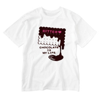CT99 CHOCOKATE IS MY LIFE*E Washed T-shirts