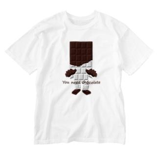 板チョコ男 Washed T-shirts