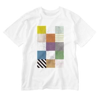 カラフルタイル Washed T-shirts