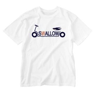 キックボード風スワローロゴ Washed T-shirts