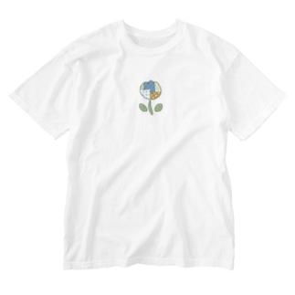 つぎはぎチューリップ Washed T-shirts