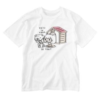 CT112 YETI is yeahの家でお茶 Washed T-shirts