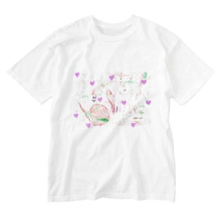 LOVE time Washed T-shirts