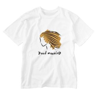 オレンジヘアー Washed T-shirts