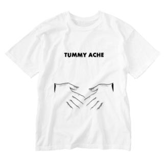 ポンポン痛い English ver. Washed T-shirts
