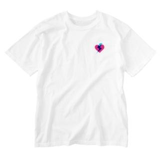 ズキューーン Washed T-shirts