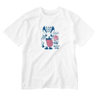 CT123 モコモコラビット1号*Lick Lick Lick Washed T-shirts