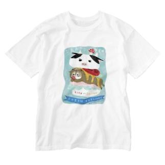 こまめがバーガー(アクリル画) Washed T-shirts