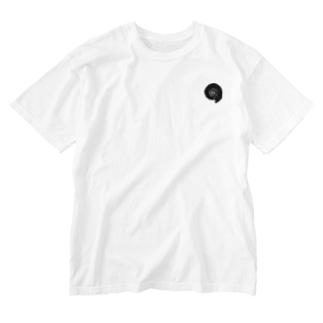 アンモナイト/表裏プリント Washed T-shirts