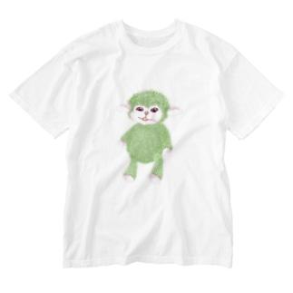 ひつじぼうや Washed T-shirts