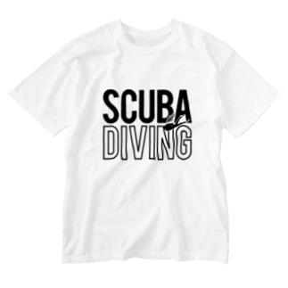 SCUBA DIVING Washed T-shirts