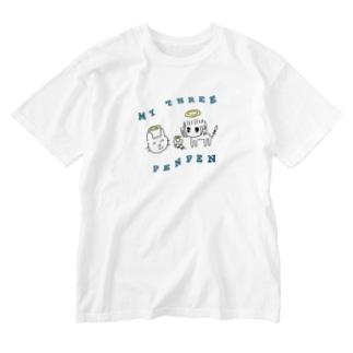 【※再販】猫と鼠と猫人間Tシャツ-[ウォッシュ加工] Washed T-shirts