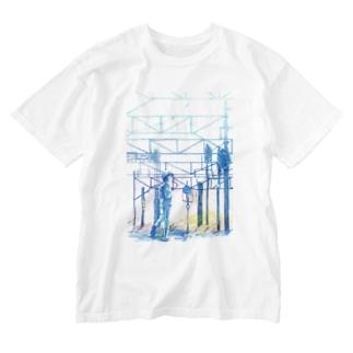 矢ヶ崎第一閉そく信号機(碓氷線) Washed T-shirts