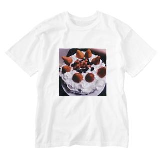 誕生日ケーキ Washed T-shirts