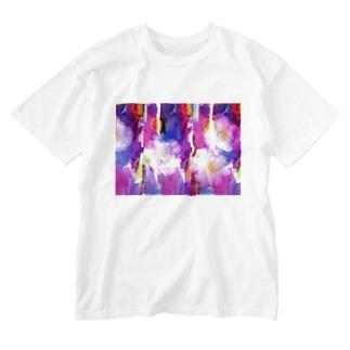 さざんかろまんす Washed T-shirts